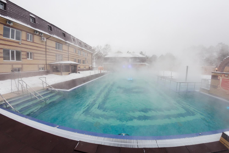 Посещение открытого термального бассейна «7 и Я»