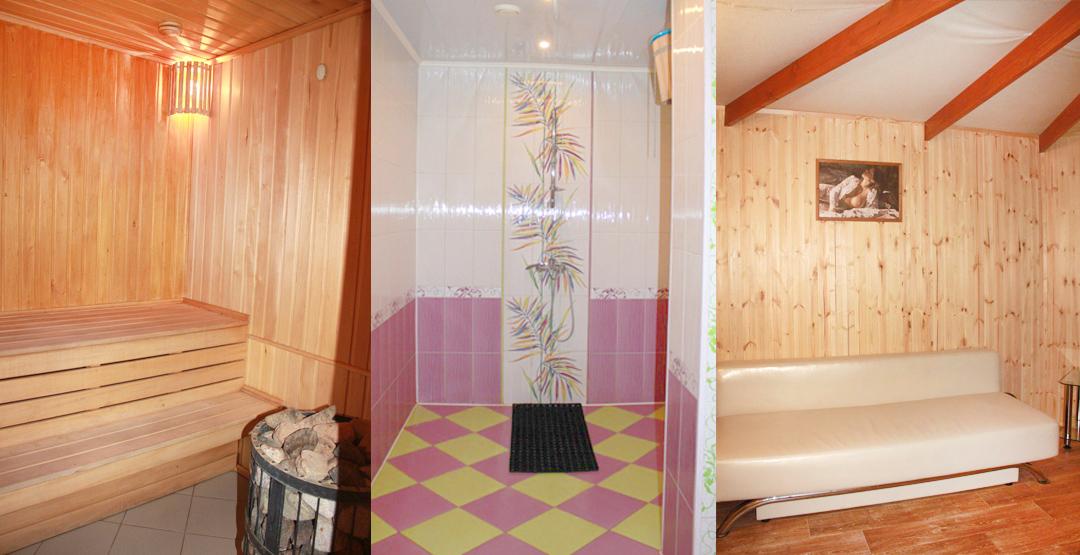 «Большой Зал с бильярдом» и «Малый Зал с бассейном» в сауне Tortuga