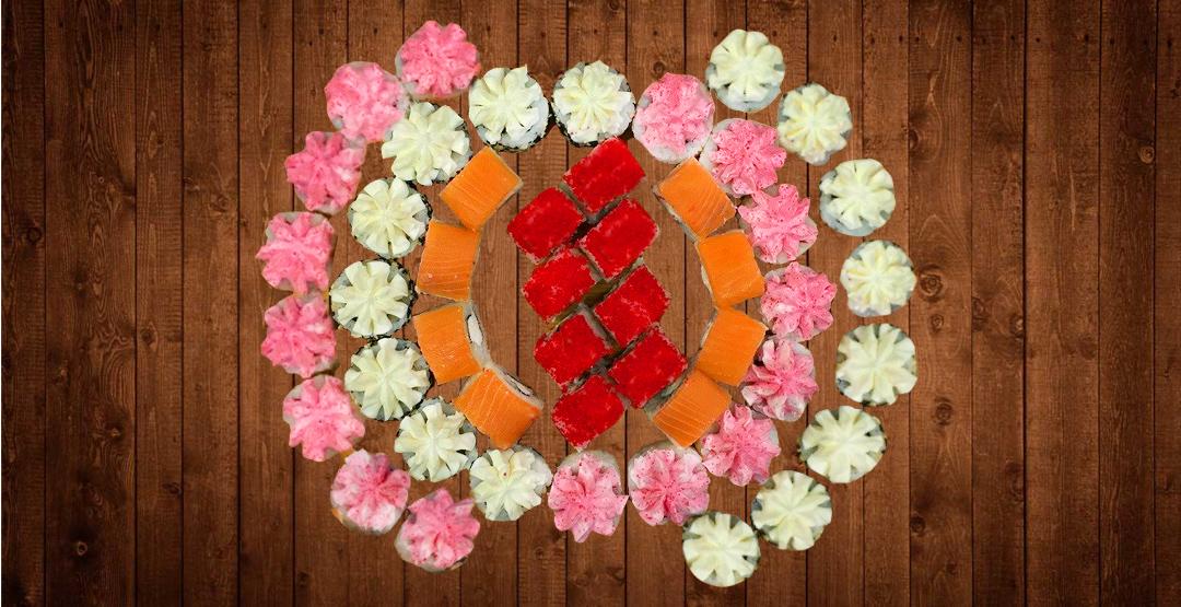 Сет «Весеннее настроение» + бесплатная доставка от службы доставки «Мир Суши»