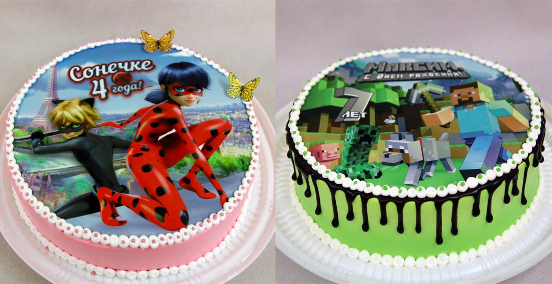 Торт с фотопечатью от студии Европика
