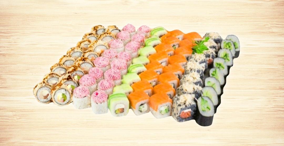 Сет «Мегаполис» + бесплатная доставка от ресторана доставки «Мир Суши»