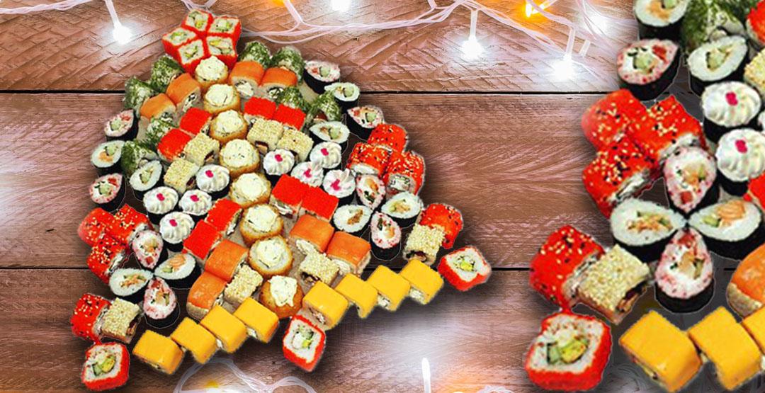 Сет «Новогодний» + бесплатная доставка от ресторана доставки «Мир Суши»