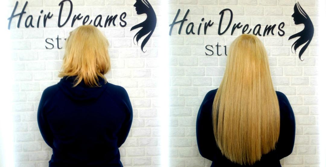 Наращивание волос по итальянской технологии от салона «Hairdreams»