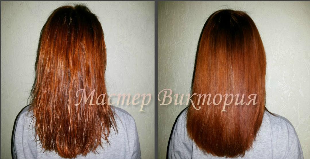 Кератиновое выпрямление волос от сертифицированного мастера Виктории Ожгибесовой
