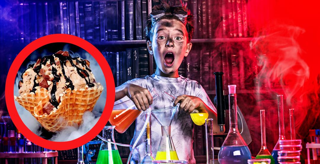 """Научное шоу """"Крио-мороженое"""" от Профессора Стекляшкиной"""
