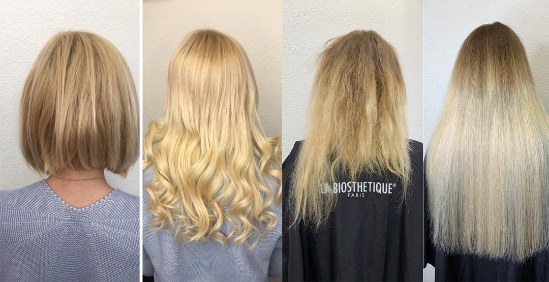 Наращивание волос в салоне красоты «Стиляги»