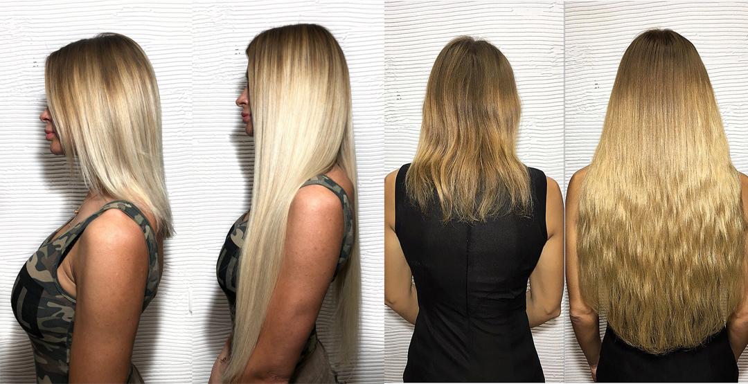 Наращивание волос от парикмахерской «Преображение»