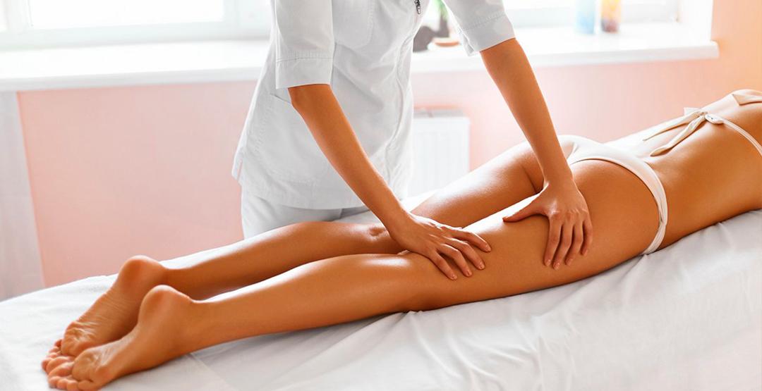 5 сеансов антицеллюлитного массажа зоны «Живот+ноги» в фитнес-студии «Корица»