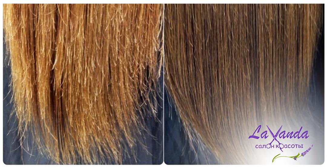 Cнятие сечки + подравнивание волос в салоне «Lavanda»