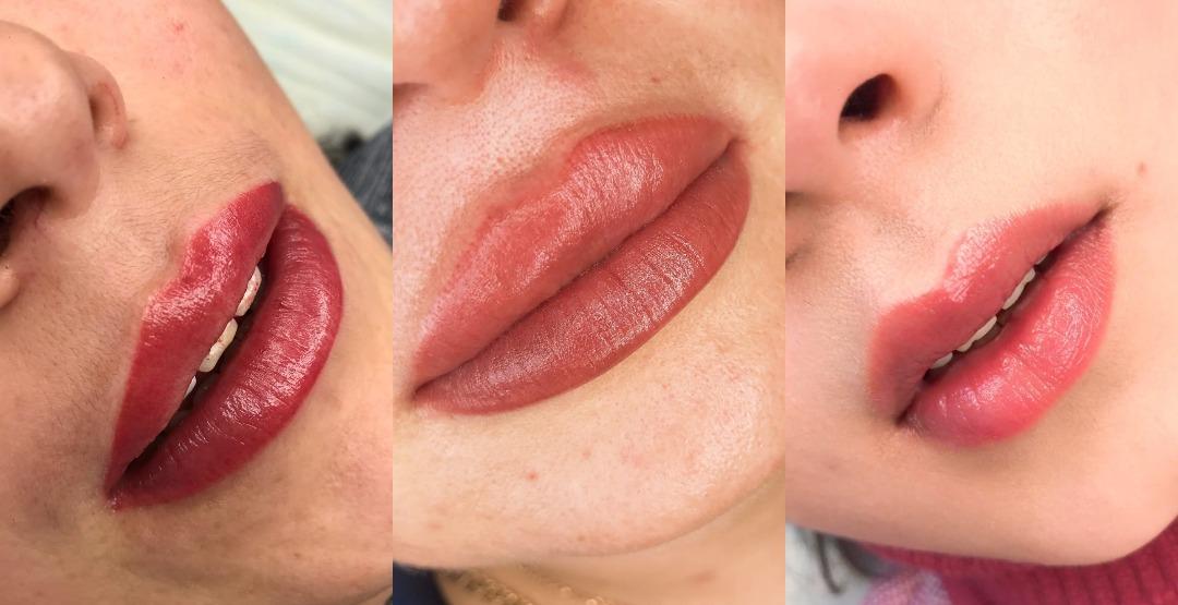 Перманентный макияж губ от студии «EBA beauty»