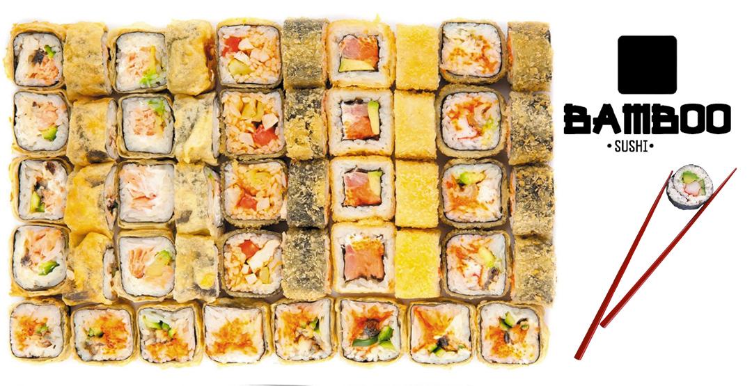 Сет «Сахара» весом 1,6 КГ от компании «BAMBO SUSHI» 48 шт + бесплатная доставка