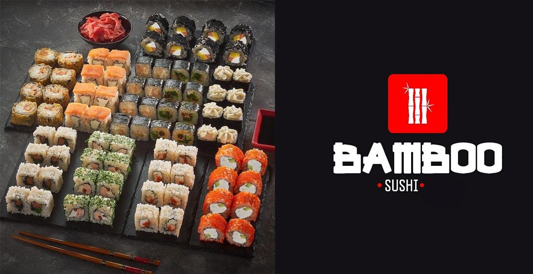Сет «Ночной» весом 1,8 КГ от компании «BAMBO SUSHI» 80 шт + бесплатная доставка